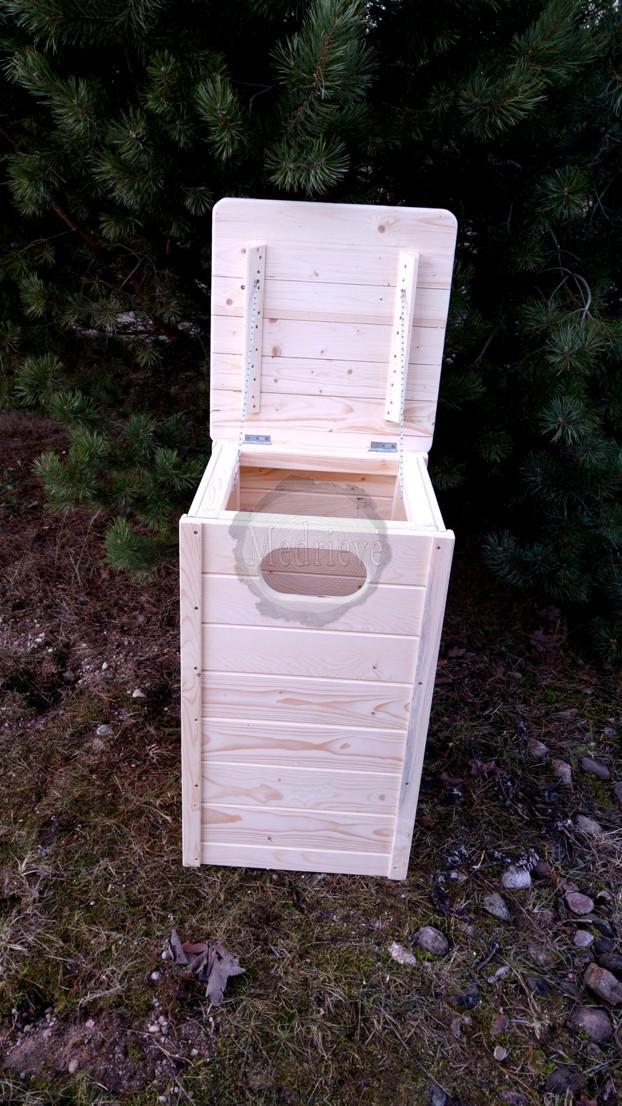 Medines suksliadezes, medinės šiukšliadėžės, šiukšliu dėžės, siuksliadeziu gamyba,