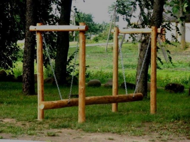 Rąstinė sūpuoklė, supuokle vaikams, medines supynes, medinės sūpynės, supyne su stogeliu, supynes akcija, vaikiskos supynes,